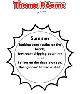 Summer Poems That Rhyme For Kids For example, for summer poems