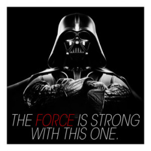 Darth Vader Quote Canvas Art Print: