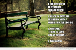 Funny Picture - Park bench prank