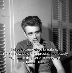 James dean, quotes, sayings, appreciate, quote, beauty, nature