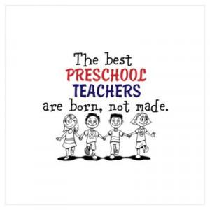 Preschool Teacher Canvas Art