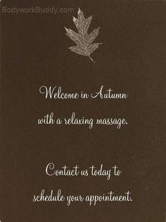 Autumn massage More