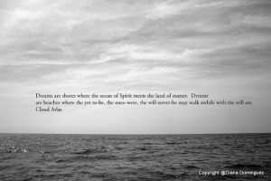 Cloud Atlas Quote - Dreams are Shores Print 4x6 Black and White Fine ...