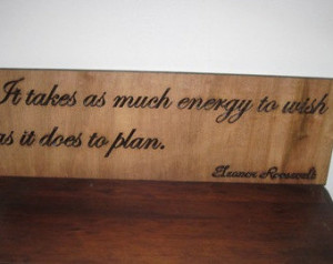 Handmade Wood Carved Sign Eleanor R oosevelt Quote Motivational ...