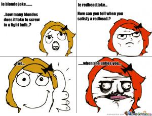 Blonde Redheads Jokes