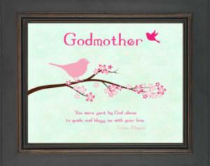 ... Gift for Godmother - Gift from Godchild - Custom Godmother Print