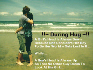 When a Boy and Girl Hugs each other