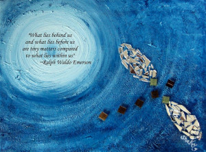 runaway Featuring Ralph Waldo Emerson Quote Painting