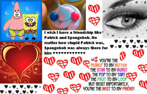Friendship like Spongebob and Patrick by CuteAngelCutie