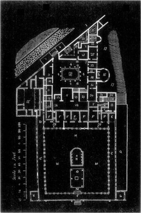 GROUND PLAN OF THE SUBURBAN VILLA OF DIOMEDES
