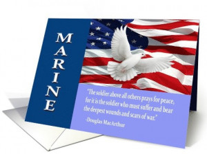 Military Marine Thank You Card by Dog Tags and Combat Boots. Includes ...