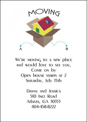 Moving Boxes Open House Party Invite Stationery