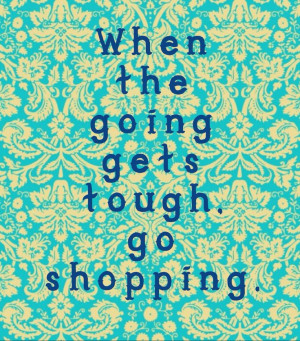 When the going gets tough...!