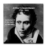 Arthur Schopenhauer Truth Tile Coaster