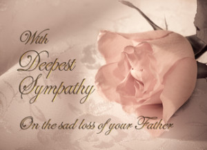 Sympathy Cards For Loss Father