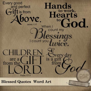 Blessed Quotes and Sayings