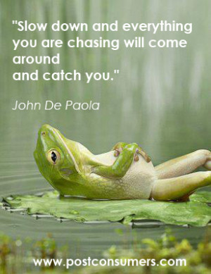 Stress Relief Inspiration: Stop Chasing