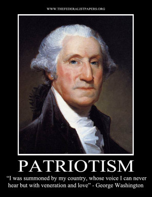 George Washington Poster, Patriotism – I hear the call of my country ...