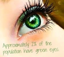 Green eyes are said to be magical. People with green eyes tend to have ...