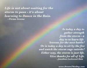 Dance in the Rain - quote by Vivian Greene
