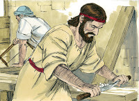 grew up working with His earthly father, Joseph,being a carpenter ...