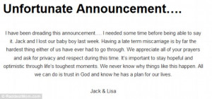 Breaking the news: Lisa made the sad announcement on her blog Raddest ...