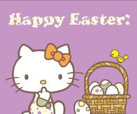 Hello Kitty Happy Easter Quote