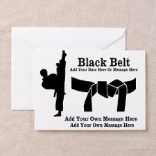 Black Belt Greeting Cards for