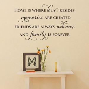 Home is where love resides, memories are created, friends are always ...