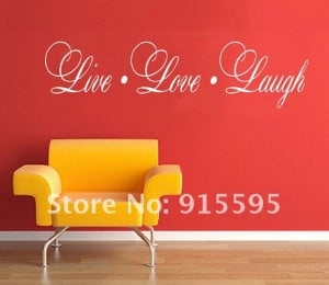 ... Vinyl Wall Sticker Mural Decal Art - Live Love Laugh English Quote