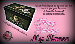 Happy Birthday My Fiance