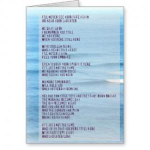 Sympathy and Grief Poem- Hawaii Sea Card card