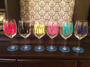 Custom Lake Sayings Vinyl Wine, Tumbler, Glass Decals on Etsy, $5.00 ...