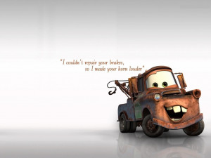mater from cars with quotes