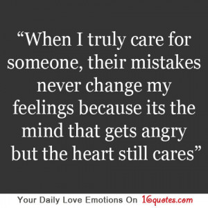 When I Truly Care for Someone