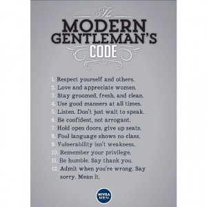 The Modern Gentleman's Code - Includes Holding Doors and Giving Up ...