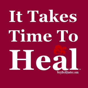 healing quotes - time...
