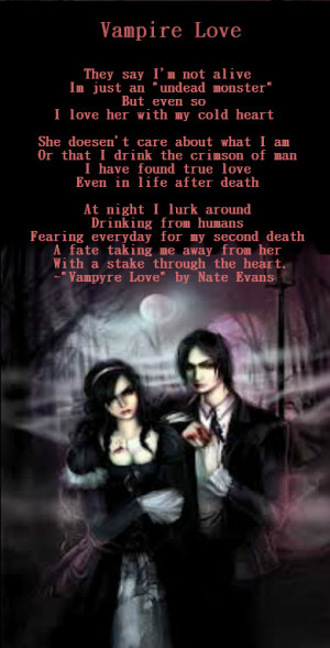 Vampire Love Quotes Wallpaper : Vampire Love Poems And Quotes. QuotesGram