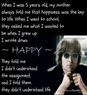 John Lennon Quotes Life School