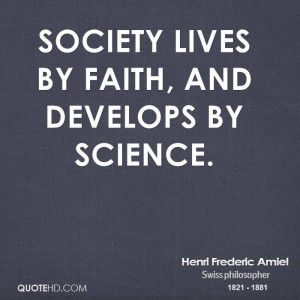 Henri Frederic Amiel Society Quotes