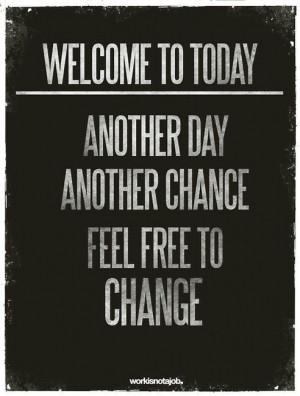 Feel free to change