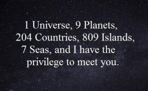 island, meet you, privilege, quotes, space