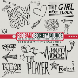 Red Band Society Themed Photoshop Brushes