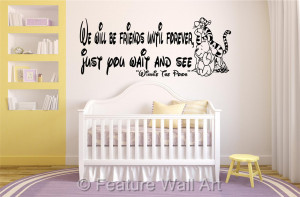 WINNIE THE POOH bear quote, wall art, boy / girl / baby, bedroom ...