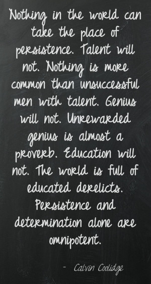 Persistence Quotes For Work: Perseverance Quotes Coolidge. QuotesGram