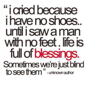 Quote on counting your blessings