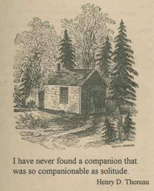 quote book outdoors solitude Thoreau Henry David Thoreau walden