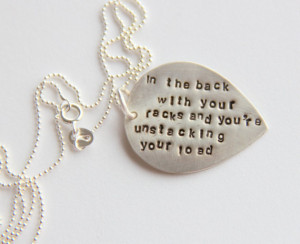 Birthday Quote Music Necklace Teardrop Necklace, Personalized Birthday ...