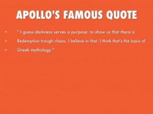 Famous Archery Quotes Apollo's famous quote.
