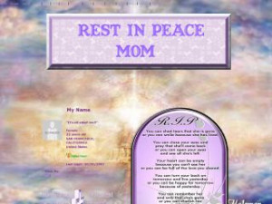 rest in peace mom rest in peace mom